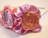 Ruffled rosette headband, you choose colors