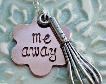 Personalized Necklace - Baking Necklace - Pastry Chef Necklace - Cooking Necklace - Whisk Necklace