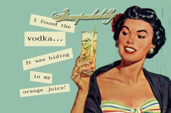 I found the Vodka Funny Retro Vintage 2x3 Refrigerator Magnet