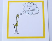 Reminder Card  Giraffe Thinking Of You Card