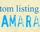 custom order for amara