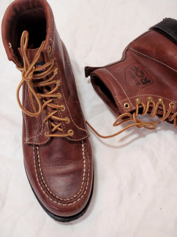 Vintage Dexter Brown Leather Boots Laceup Boots Camp