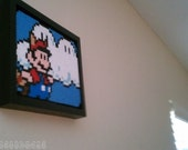"Framed Screenshot - Raccoon Mario - Super Mario Bros. 3 - 5""x7"""