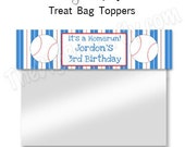Baseball Boy Party- Personalized  Treat Bag Toppers - DIY Party Printables - Digital Download and Print