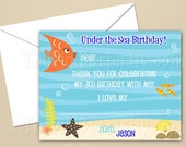 Under The Sea Party - CUSTOM Thank You Cards - DIY Party Printables - Digital Download and Print