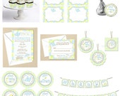 Airplane Baby Boy Sprinkle or Shower- Starter COLLECTION - DIY Party Printables - Digital Download and Print