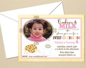 Cookies & Milk Party - CUSTOM Birthday Party Invitation - DIY Party Printables - Digital Download and Print