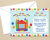 Bounce House Boy Party - CUSTOM Birthday Party Invitation - DIY Party Printables - Digital Download and Print