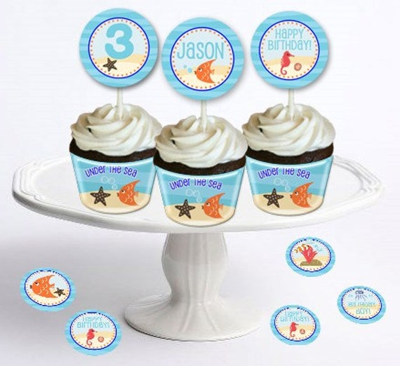 """Under The Sea Party -Table Confetti 1"""" Party Circles - DIY Party Printables - INSTANT DOWNLOAD and Print"""