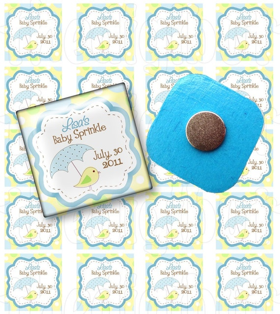Airplane Baby Boy Sprinkle or Shower - Personalized 1 inch Squares for glass Magnet Favors - DIY Party Printables - Download and Print