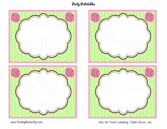 Daisy Baby Girl Shower - Baby Shower Labels  - DIY Party Printables - INSTANT DOWNLOAD and Print