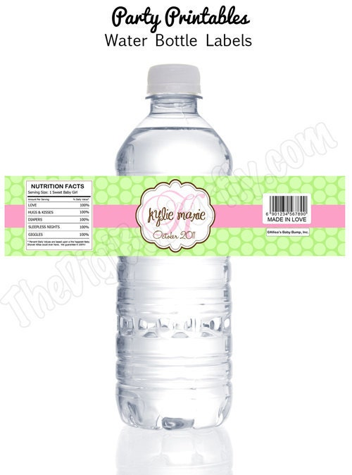 daisy baby girl shower personalized baby shower water bottle