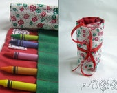 Crayon Roll - comes with 12 Pencil crayons - Perfect for your artist child - Back to School