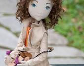 Claudine. textile handmade doll. example