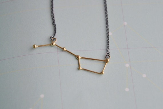 Ursa Major / Big dipper necklace 18k goldplated and sterling silver