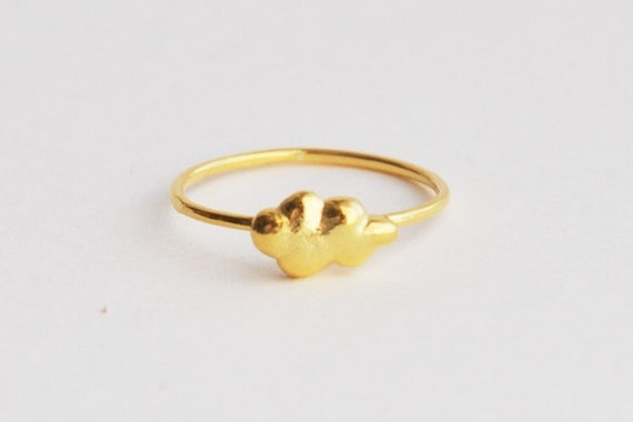 Cloud ring 18k goldplated over sterling silver