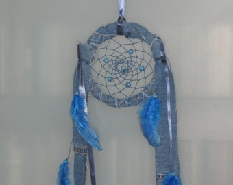 "Blue jeans 5"" dream catcher"