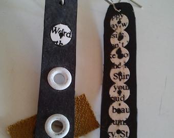 ELLEment  innertube / inner tube rubber earrings