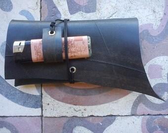 RUSTY innertube / inner tube rubber  tobacco pouch