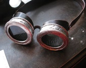 Steampunk  Goggles - Original pewter and leather V.2