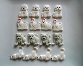 12 Edible Dog Lovers Cupcake toppers - Choice of Dog breed with details