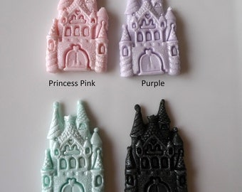 24 Edible Princess Castle Fondant Cupcake toppers - BIRTHDAY