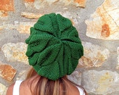 Forest Green Soft Beret- Tam - Fall Fashion - Under  50