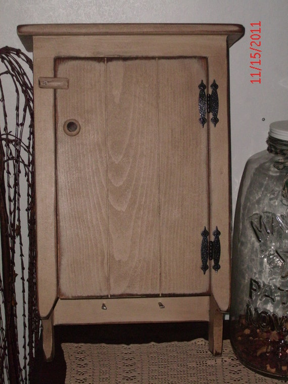 Items Similar To Primitive Wall Cabinet Medicine Cabinet