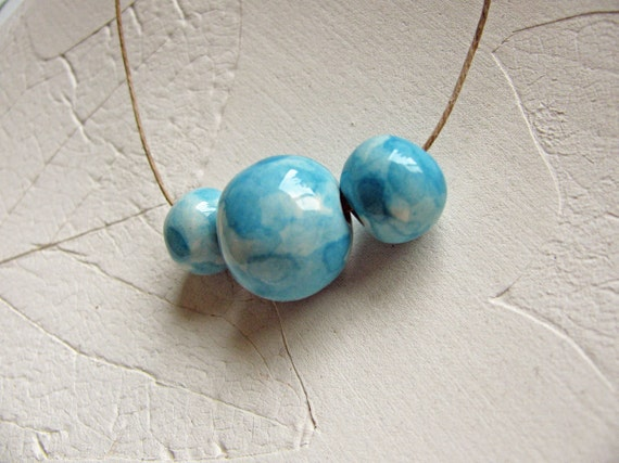 Watercolor Blue Beads