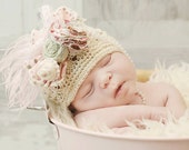 Shabby chic hat for baby or toddler