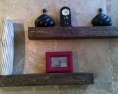 """Rustic floating shelves     Matched pair 32"""""""