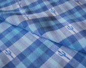Blue Cactus on Blue Plaid Fabric Sew Craft Kids Summer Spring 3 for FREE Shipping