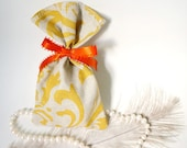 Damask Fabric Favor Bag