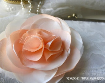Handmade Flower Adornment -Brooch and Hair Clip