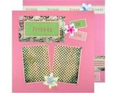SALE Premade Scrapbook Layout Friends, Girls, Pink