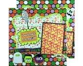 Premade Scrapbook Page, Candy, Trick or Treat, Halloween