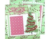 Premade Scrapbook Layout, Merry and Bright, Christmas Tree