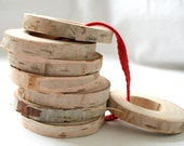 Rustic napkin rings from light birch wood - set of 8 - eco friendly home decor