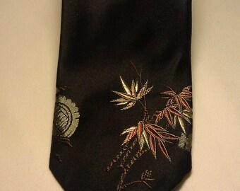 1980s Men's Silk Tie by Giant Panda