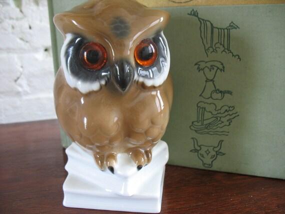 Vintage Owl Figure - West Germany