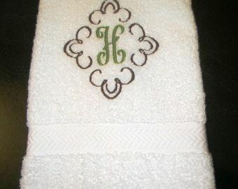Monogrammed  hand towel.