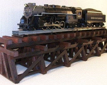 Model Railroad O Gauge LOWBOY Wooden Trestle