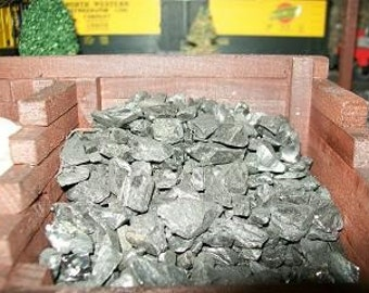 REAL COAL / Anthracite / Model Railroad /  Pennsylvania Mined / Diorama Scenery Landscaping