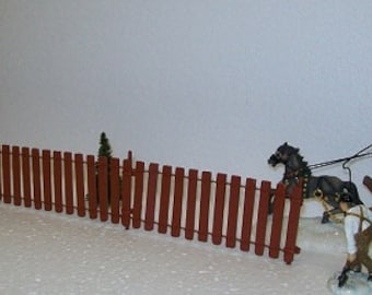 MINIATURE FENCE for Fairy Gardens,Model Railroads, Doll House, or Scenery Bordering