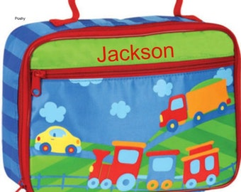 Personalized Lunch Box Bag Stephen Joseph Transportation