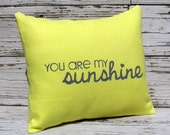 Yellow and Gray Linen Pillow Cover