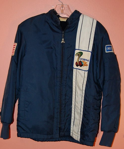Vintage Ford Cobra Mustang Racing Jacket Lined 1970s Small