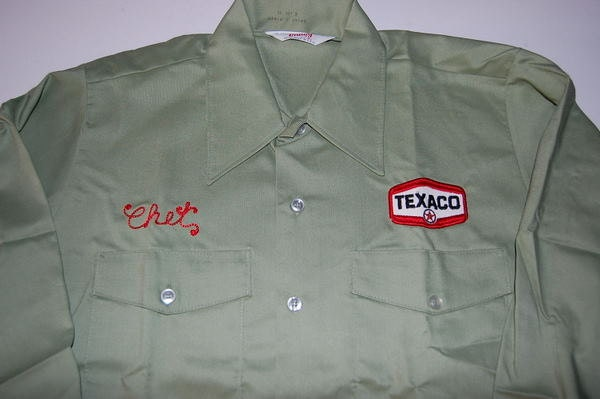Texaco gas station vintage work shirt deadstock nos for Mechanic shirts custom name patch