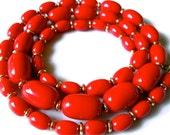 Vintage Red Necklace Lipstick  1970s