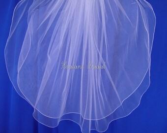 Veils, Bridal Veils, two layers veils,  Waist length veils